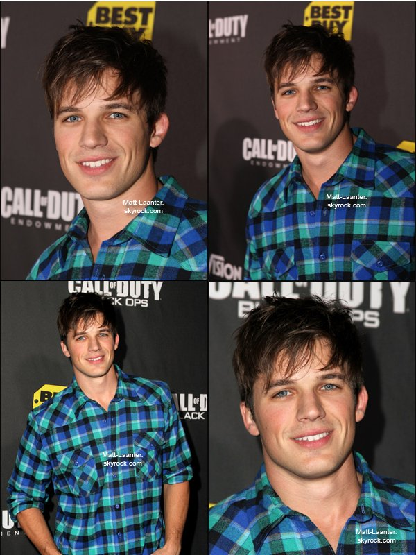 ". 4.10.10 Matt arrivant à la soirée de lancement de ""The Call Of Duty: Black Ops"" à Santa Monica, en Californie.  ."