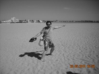 Toutoune et moi sur la plage de Royan !