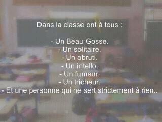 Et dans ta classe ?