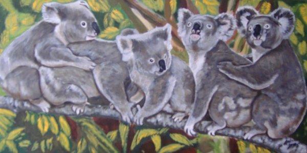 famille koala taille 30x60