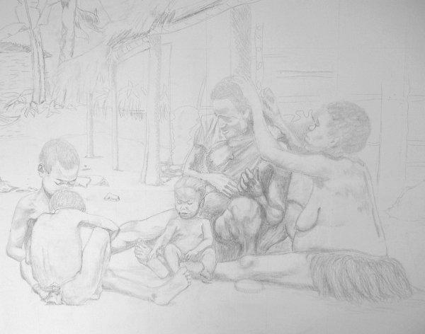 dessin au crayon de papier