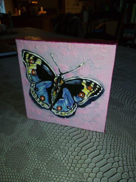 Papillon toile 15x15cm