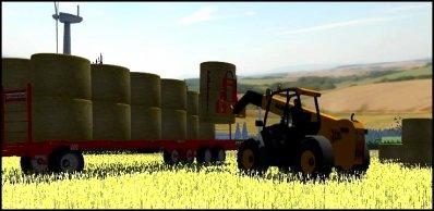 Ramassage de la paille de blé 2011