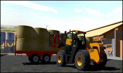 Déchargement de la paille de blé 2011