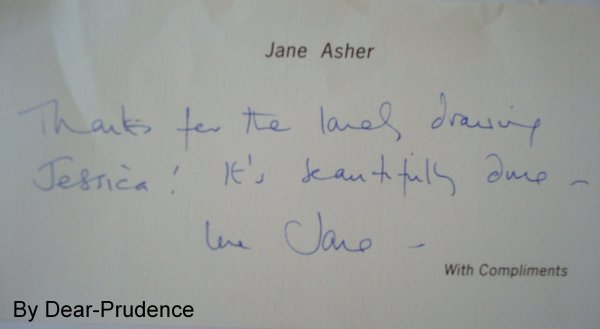 Jane Asher m'a répondu ♥