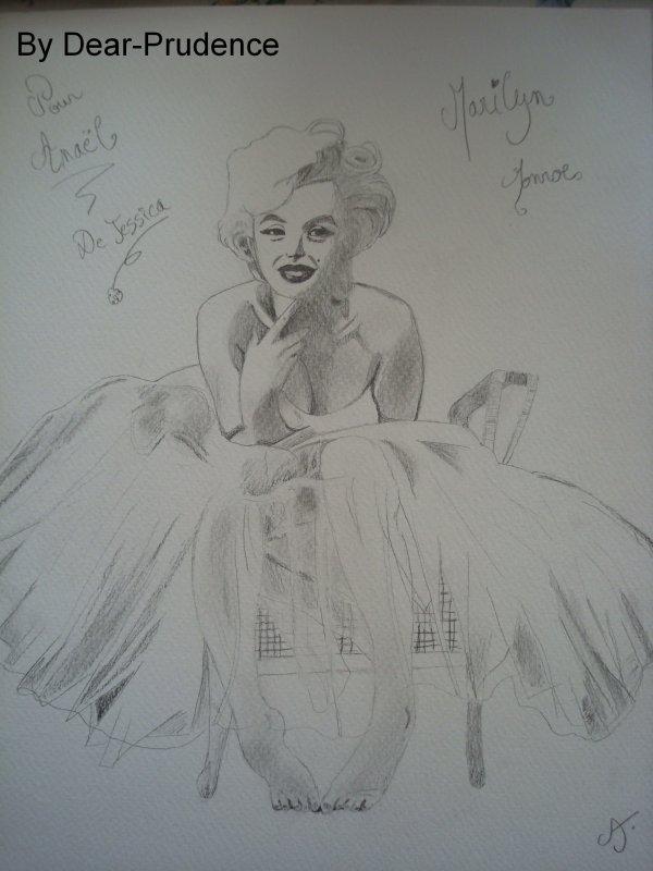 Dessin de Marilyn Monroe