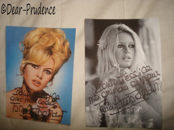 Autographe de Brigitte Bardot ♥