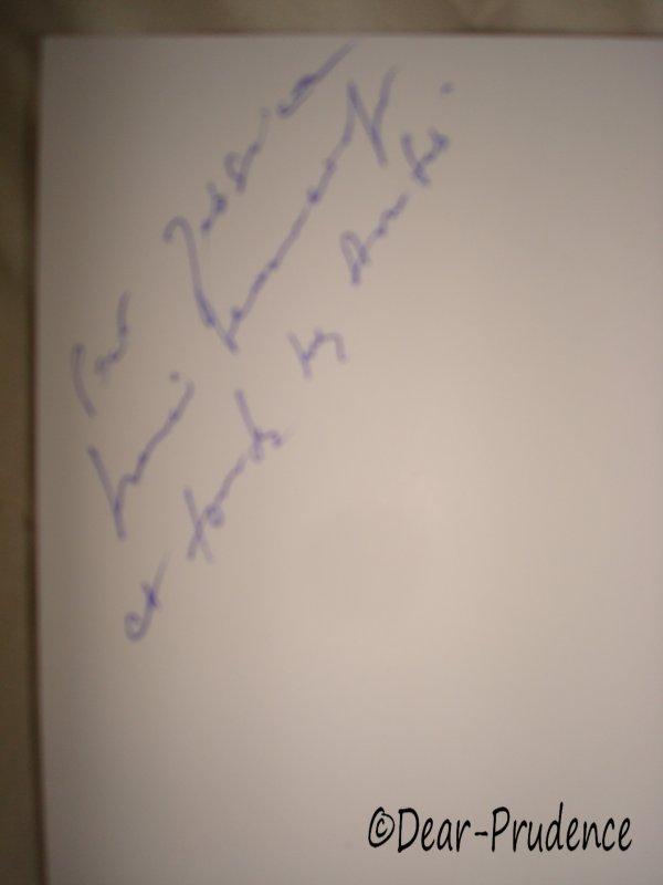 Autographe de Sophie Marceau ♥