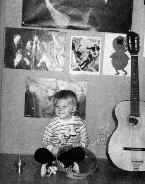Kurt Cobain as a child