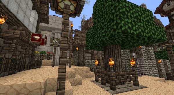 minecraft cration village fini - Lampadaire Minecraft