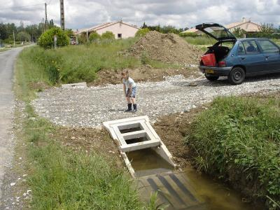 05 mai 2008 pr paration du chantier avec busage foss et - Acces chantier maison individuelle ...