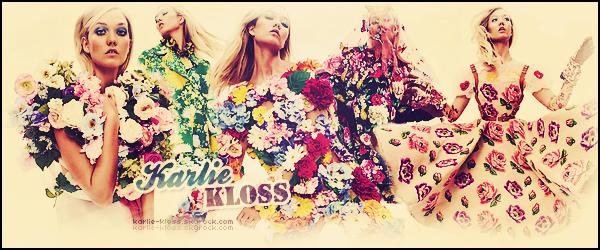 Bienvenue sur ta source dédiée à la mannequin et une danseuse américaine - Karlie Kloss ! Vous retrouverez ici tout le train train quotidien de la jeune femme de 25 ans à travers des photos, des vidéos et tout autres médias.