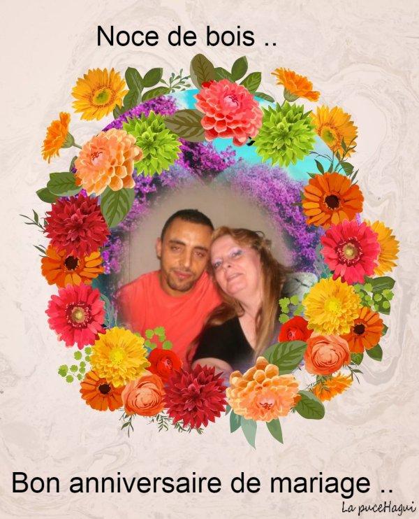 Mon Loulou je te souhaite un bon anniversaire de mariage