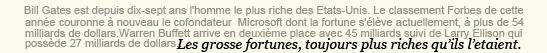 . ACTUALITÉ - Bill Gates , encore l'homme le plus riche des États-Unis en 2010 d'après Forbes ! .