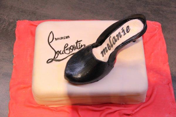 chaussure louboutin en pate a sucre