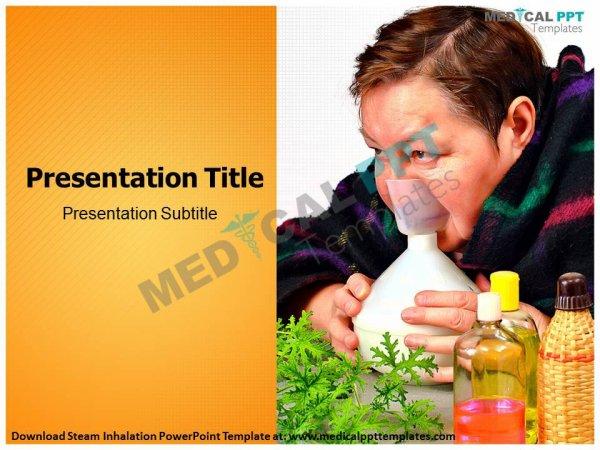 Steam Inhalation PowerPoint Template - Medical PPT Templates