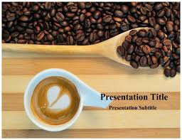 Caffeine Stimulant Drug PowerPoint Template