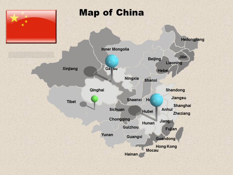 This PowerPoint Template Gives an Overview of China Map