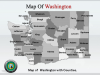 PowerPoint Template Gives an Exciting view of Washington Map