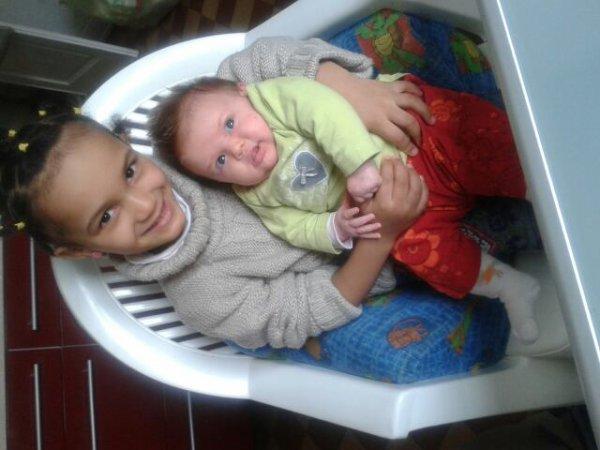 Apopo et charlotte ma nièce trop belles mes chéries