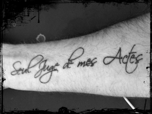 Un de mes tatouages ...