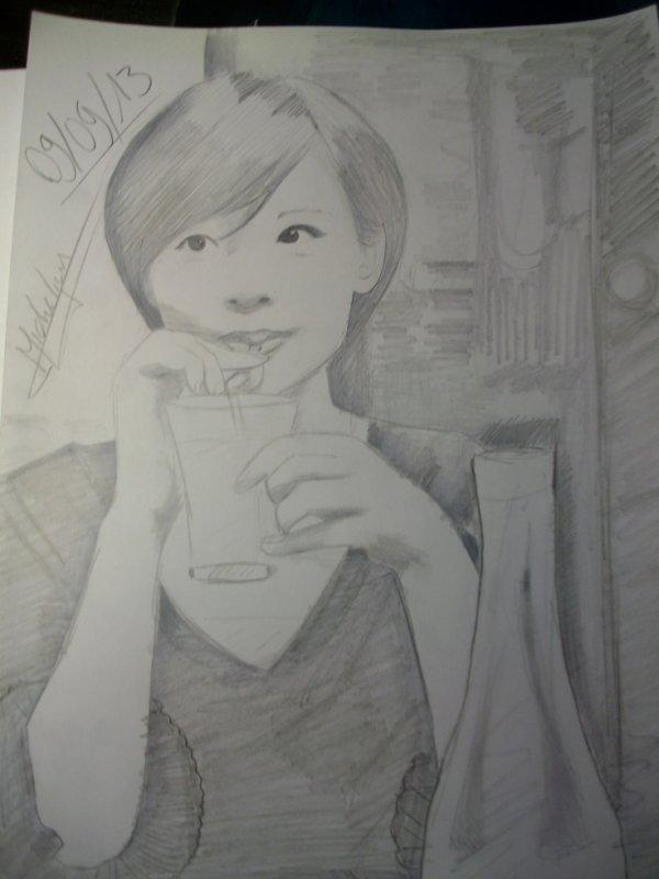 portrait féminin d'une amie