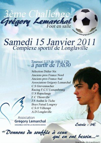 """""""3ème Challenge Grégory Lemarchal"""" à Longlaville (54)"""