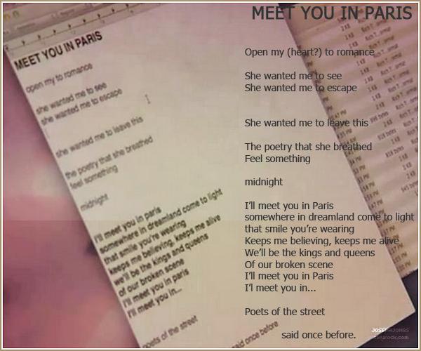 13 Août 2012  :  C'est officiel! La prochaine chanson des Jonas s'intitulera Meet You In Paris.