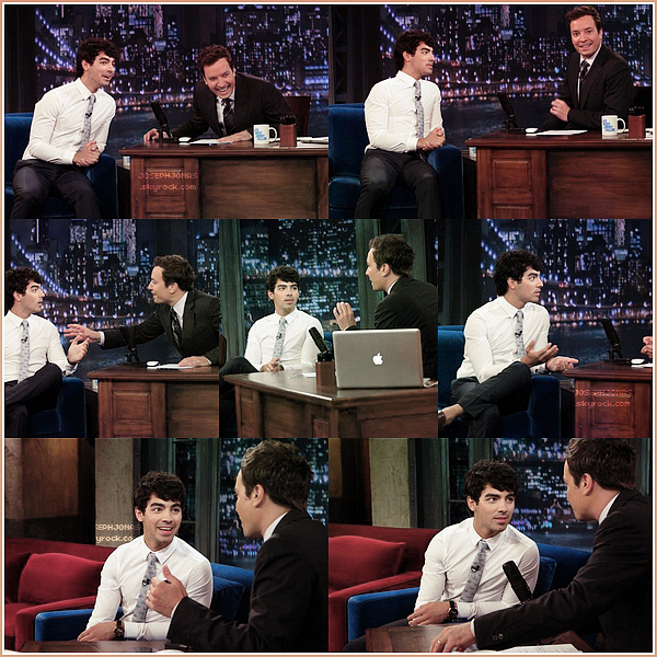 """17 Août 2012  :  Joseph était l'invité sur le plateau de télévision """"Jimmy Fallon"""" à New York."""