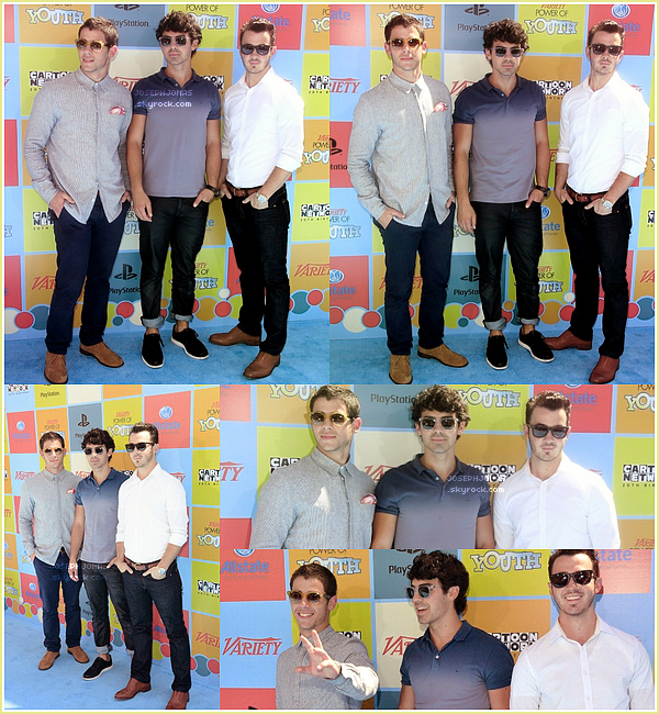 15 Septembre 2012  :  Nos Jonas honorés lors des Variety's Power Of Youth Awards à L.A.