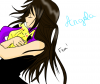 Angela et une peluche Pikachu :D