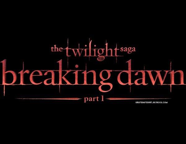 › ACTUALITÉ twilight. _Voici le logo de la première partie et la photo de la nuit de noce ✿ I THINK :__ Le logo est assez simple comme les précédent et pour la photo j'ai hate de voir ce que sa va donner dans le film!