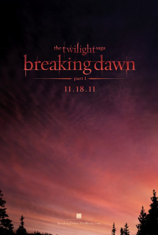 › ACTUALITÉ twilight. _Voici l'affiche de Breaking dawn ✿ I THINK :__ Votre avis ? hâte ? :)