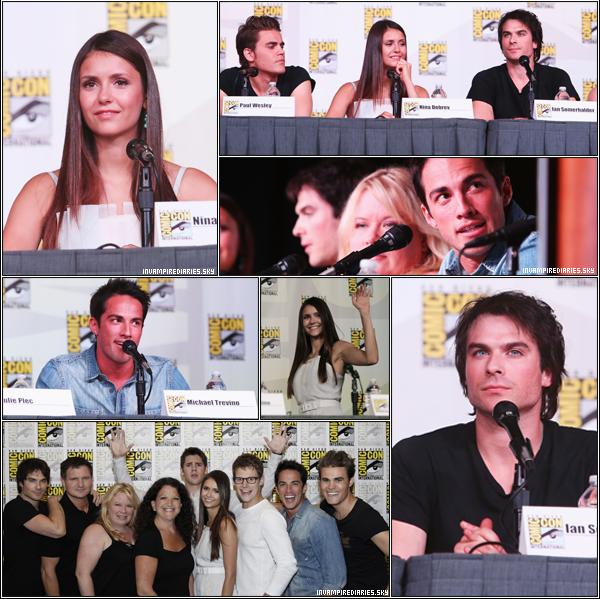 . ♦ Tout le cast de la série s'est rendu à San Diego pour le Comic Con le 14 Juillet. Au programme : Autographes, visite d'EXTRA et Conférence de Presse ! De grands TOP pour les tenues des acteurs, qui étaient magnifiques. Comment trouves-tu la robe de Nina ? .