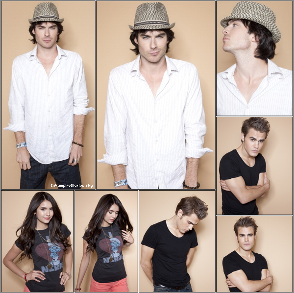. ♦  Back to 2011 : ComicCon 2011 !  Il y a un an, lors du Comic Con, Nina Dobrev, Paul Wesley, Ian Somerhalder, Candice Accola et Joseph Morgan avaient posé pour l'objectif du magazine TV Guide. Aujourd'hui, en exclusivité, retrouvez le photoshoot entier ! .