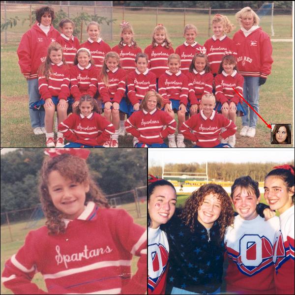 ** ??/??/???? : Ashley quand elle était jeune Pom-Pom Girls. dans l'équipe des  « Spartans » du New-Jersey. [