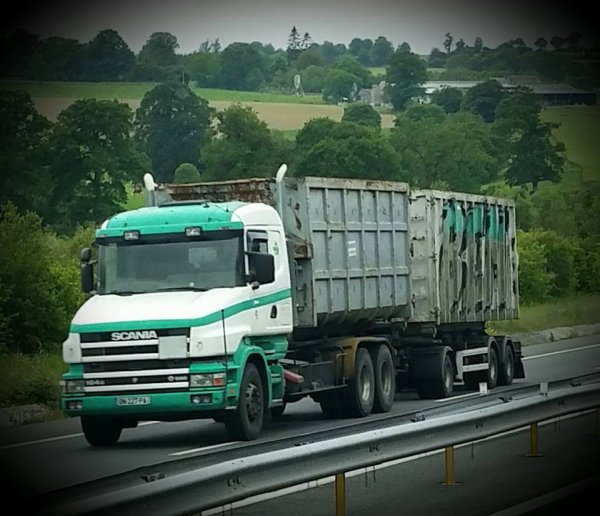 scania porteur container benne