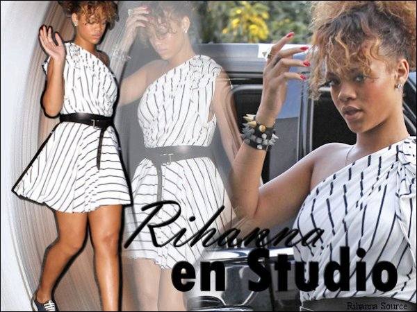 Rihanna en studio et deux titres du nouvel album confirmés