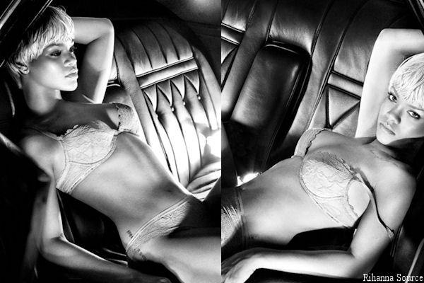 Rihanna pose pour Armani