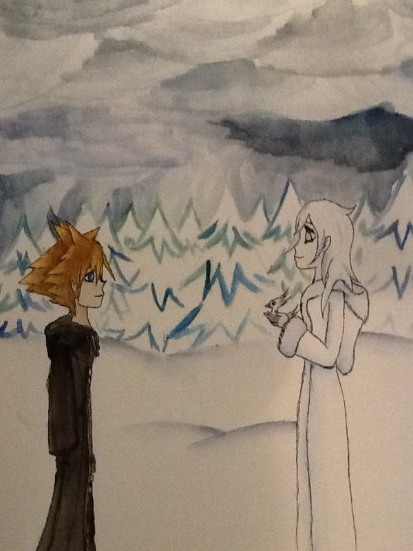 Le peuple du c½ur: Rencontre entre Sora et Alk (fanfiction écrite par Piu-Chi-Mi)(par contre le dessin est de moi)