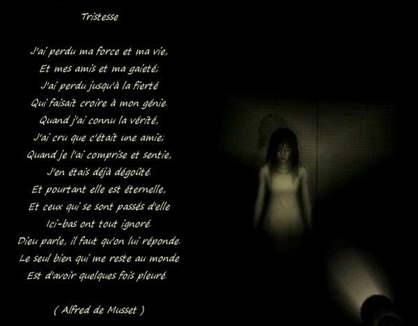 Super La tristesse vient de la solitude du coeur  ( Montesquieu  DZ39
