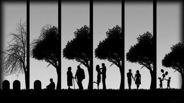 Entre la vie et la mort, il n'y a qu'un pas.  Entre la tristesse et le bonheur, il y a une route infinie.  (Michel Linh )