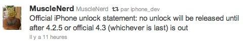 Pas de nouvelles méthodes de désimlockage avant iOS 4.3 !