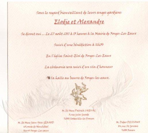 Mariage d'Elodie & Alexandre                                                                                     ( la  fille de Line  Formerie )