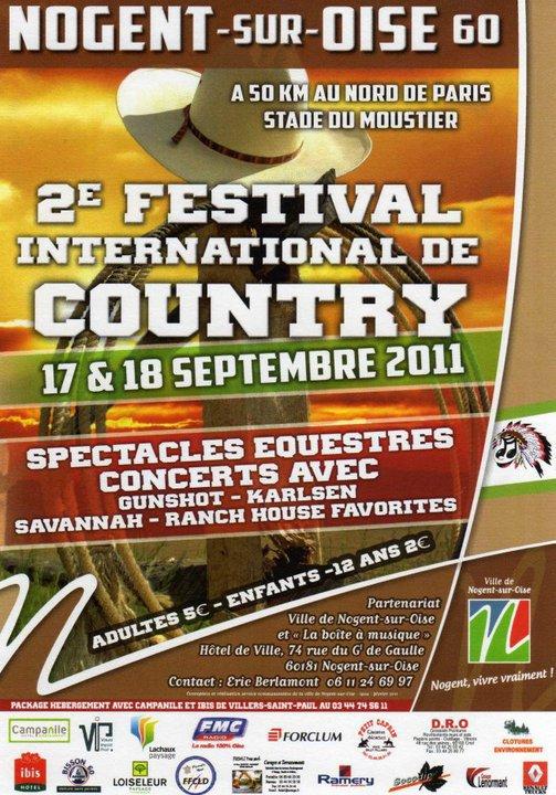 2ème Festival Country à Nogent sur 0ise 17 & 18 Septembre 2011