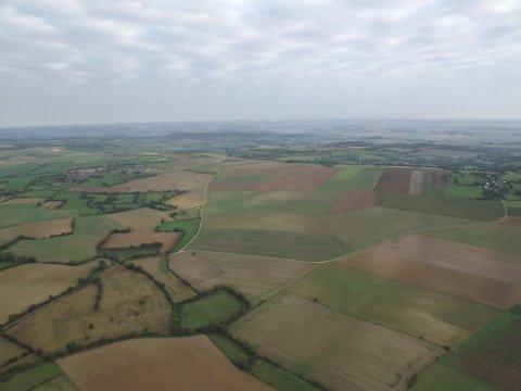 25 Septembre 2011 : Enfin !!! Les conditions de vol étaient favorables..........