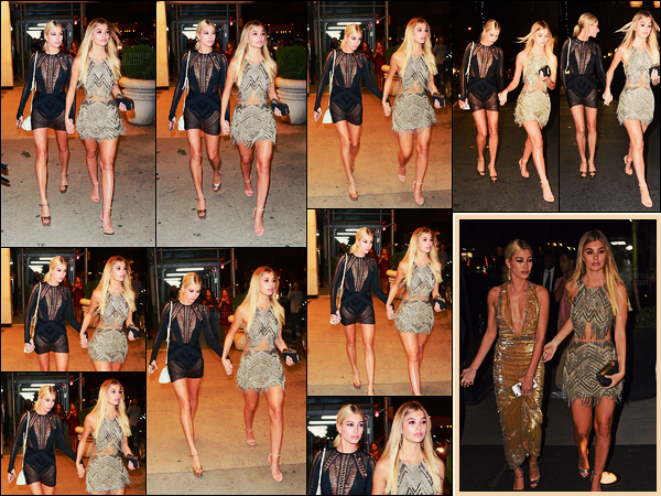 08/09/17 - Camila Morrone a été photographiée avec Hailey Baldwin dans les rues de New York City. Plus tard, les deux jeunes femmes ont été vues à leur arrivée à la soirée ICONS par Haper's Bazaar. Joli top pour la sublime Camila !