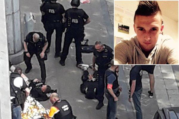 Victime d'une attaque en Belgique était assis à côté de maman quand un homme armé a frappé