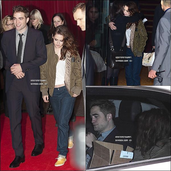 14/11/2012-  Kristen, Rob, Taylor et une partie du cast étaient à l'AP de BD 2 à Londres.