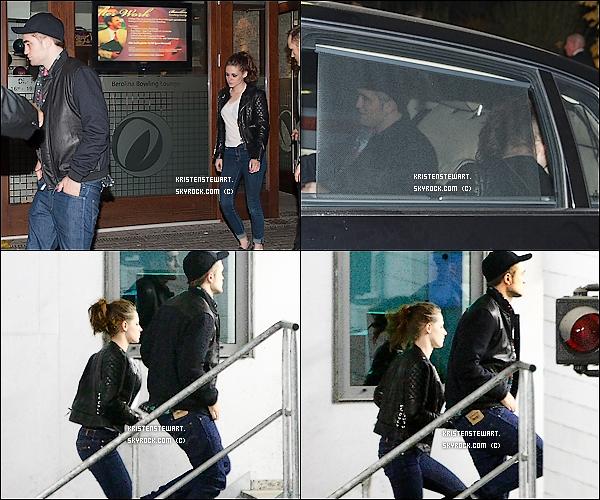 16/11/2012-  Robsten et Taylor se rendaient à un bowling pour fêter la fin de la promo de BD2.